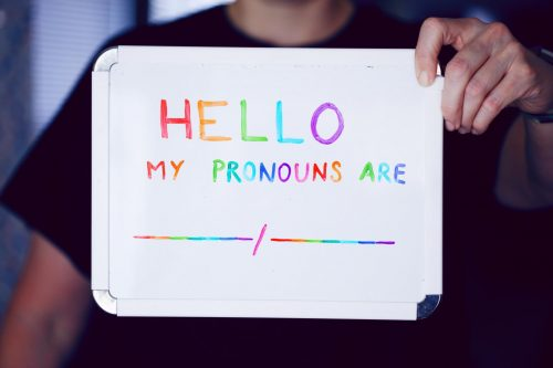 Understanding that a person's pronouns may change over time, or may be fluid, meaning they change regularly depending on the day, can help to ensure you treat everyone around you with the utmost respect and understanding. (Photo via Unsplash)