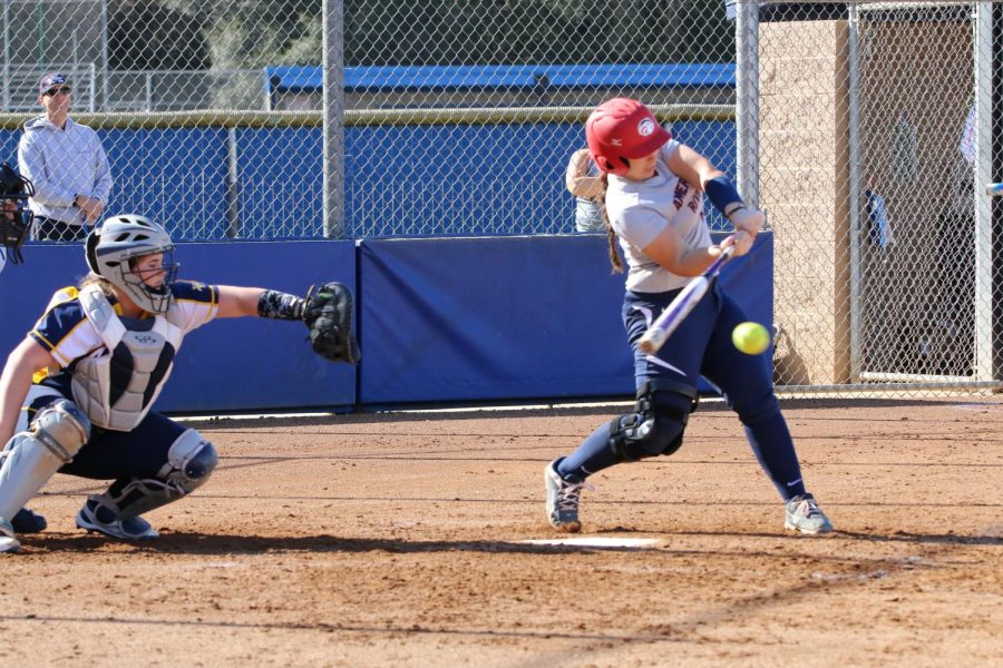 Lisa Delgado, American River College's softball coach says the softball team is fortunate to be back in the dirt this semester in the fall of 2021. (File photo)