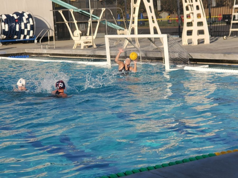 The American River College womens water polo team had a dominant performance against the Modesto Pirates. The final score was 13-2 on Sept. 22, 2021. (Photo by Lorraine Barron)