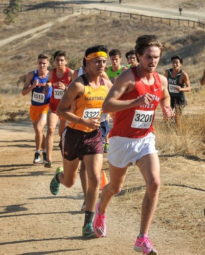 The American River College Mens Cross Country team, pictured here competing in the California Community College Athletic Association Cross Country Championship on Nov. 8, 2019, is looking to run straight to the top and take home every championship this season in the fall semester of 2021. (Photo courtesy of Rick Anderson)