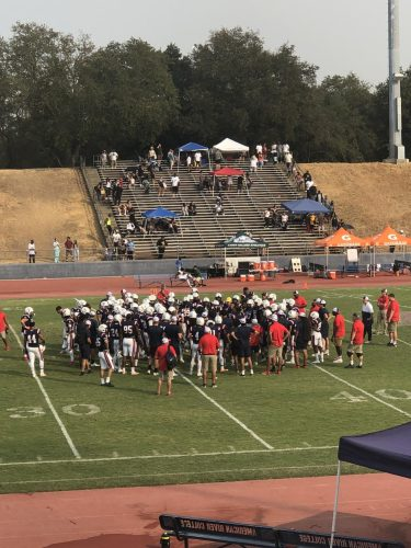 Fans will not be allowed at indoor American River College sporting events, but are able to attend outdoor events in the fall semester of 2021. Some events will be live-streamed, so fans won't miss out.  (Photo by Cynsere Kelly)
