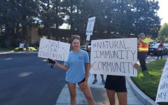 LRCCD students and faculty protest against COVID-19 vaccine mandate
